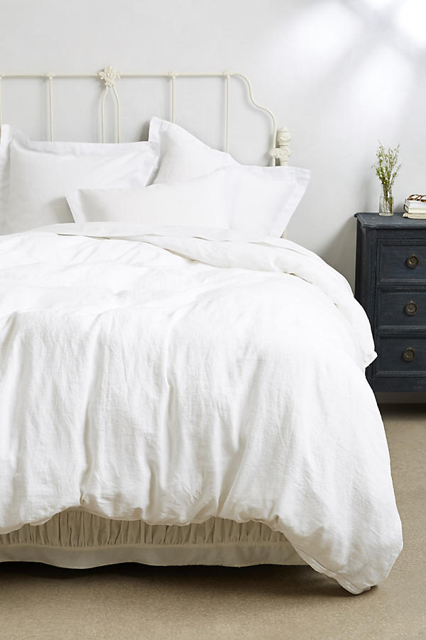 Slide View: 1: Soft-Washed Linen Duvet Cover