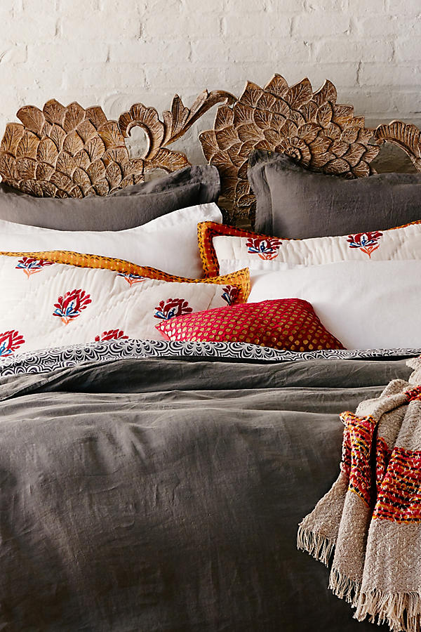 Slide View: 10: Soft-Washed Linen Duvet Cover