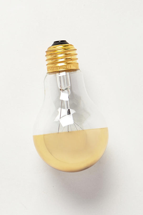 Slide View: 1: Half Gold Light Bulb