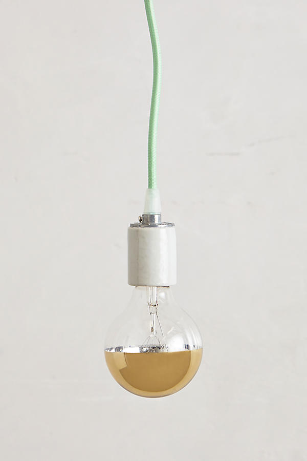 Half Gold Light Bulb