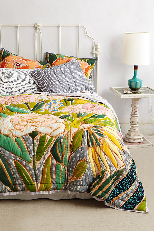 Witherbee Pillowcases - Green, Size Std Shams