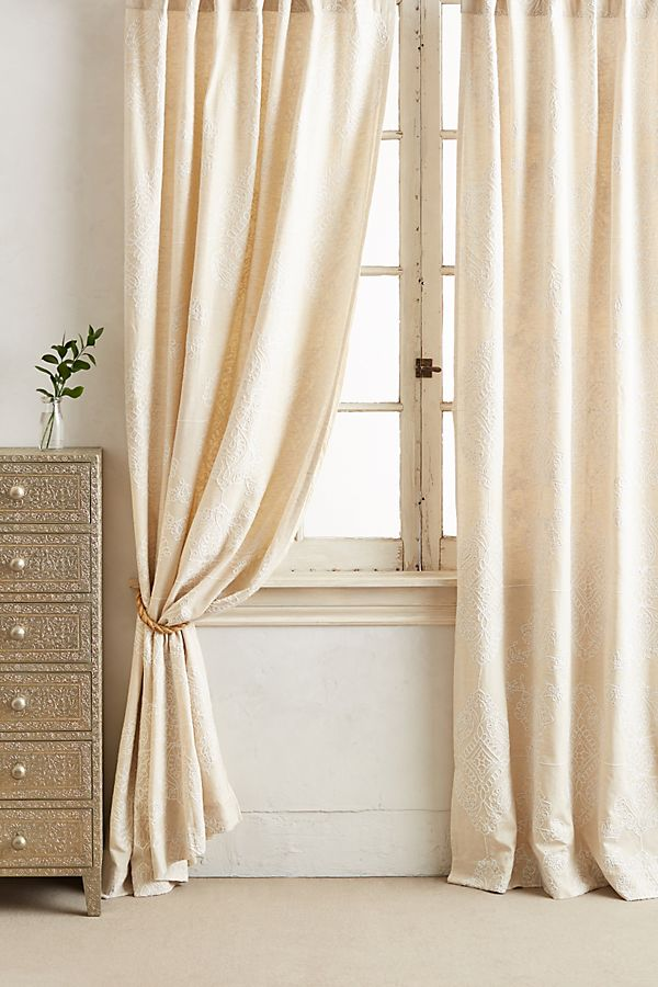 Slide View: 1: Embroidered Gretta Curtain