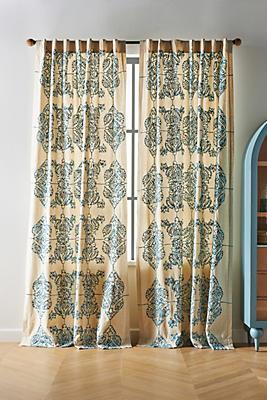 Slide View: 1: Embroidered Gretta Curtain