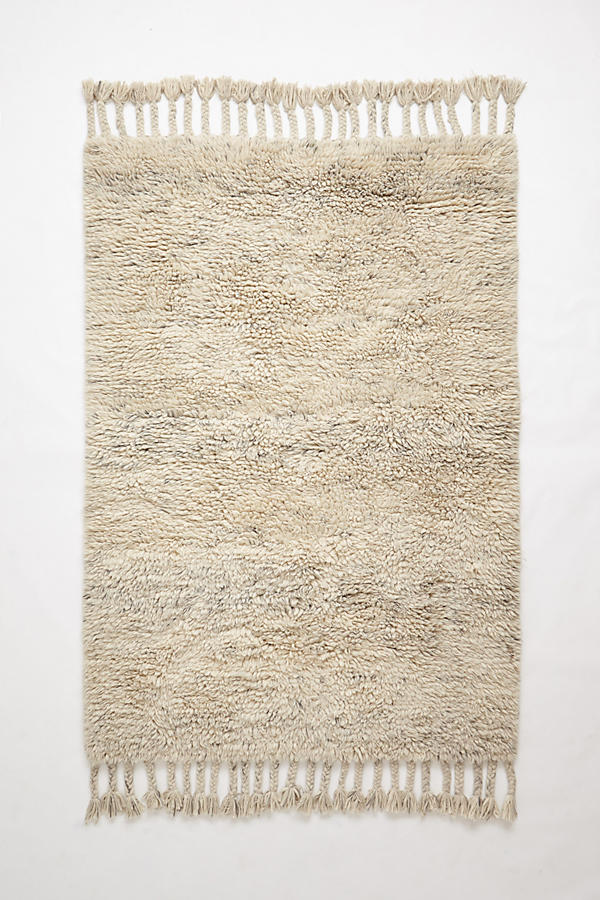 Slide View: 1: Fringed Flokati Rug