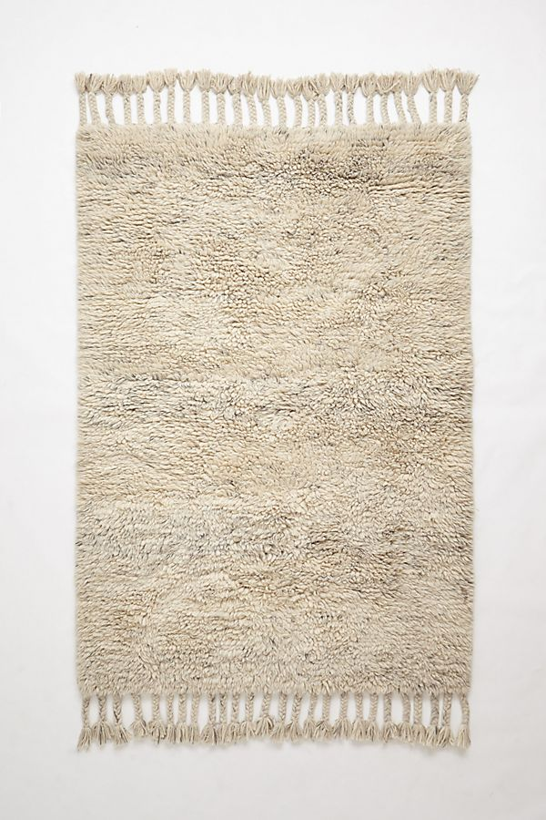 slide view 1 fringed flokati rug
