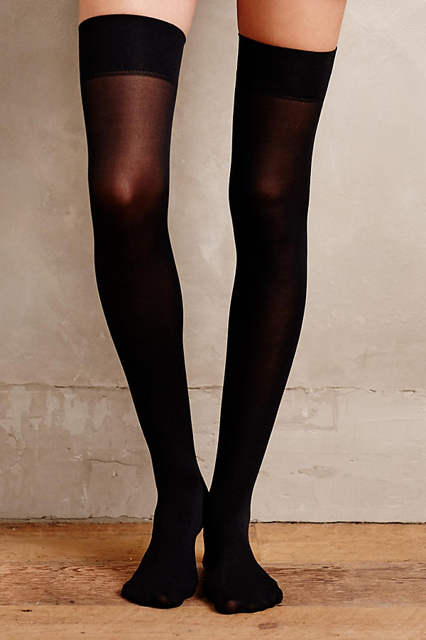 Opaque Thigh Highs