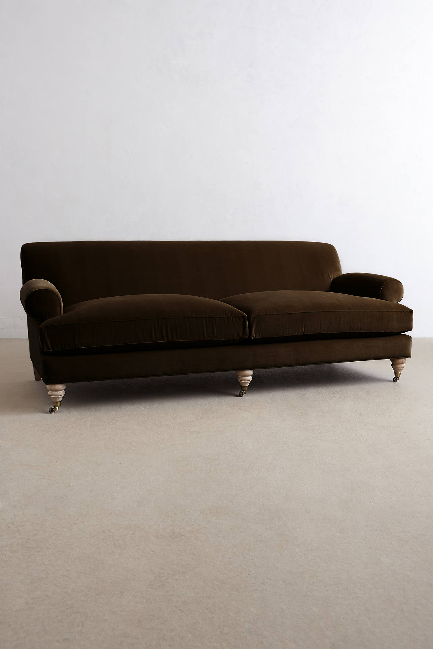 Velvet Willoughby Sofa, Wilcox
