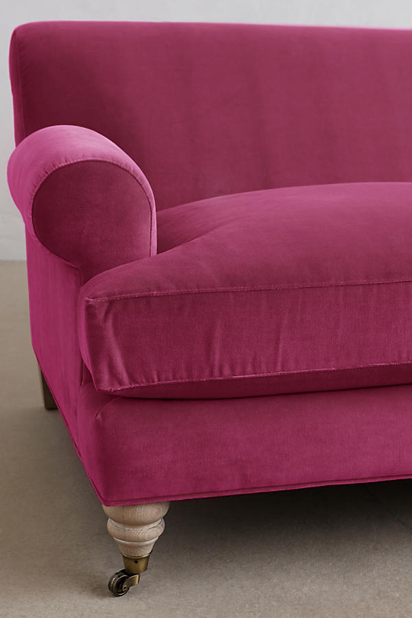 Slide View: 3: Velvet Willoughby Sofa, Wilcox