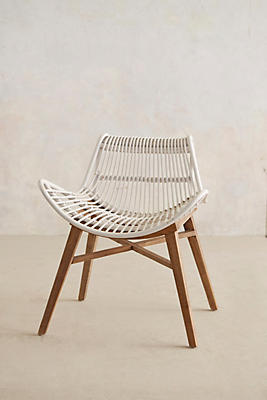scrolled rattan chair | anthropologie