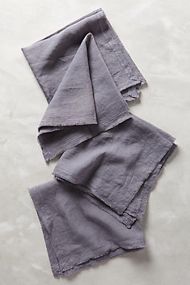 Slide View: 1: Rustic Linen Napkin Set
