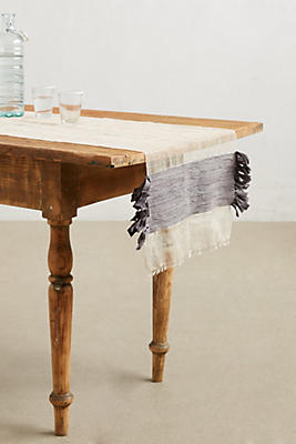 Slide View: 1: Flowing Fringe Table Runner