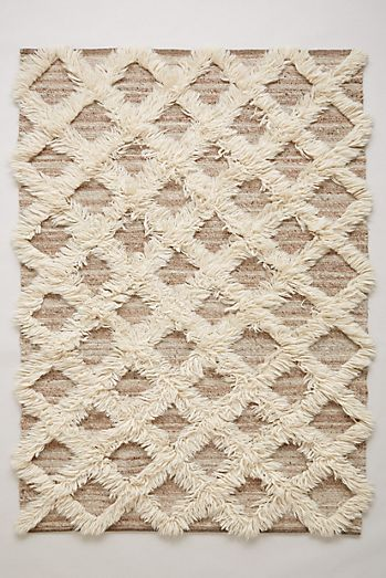 Lattice Flokati Rug
