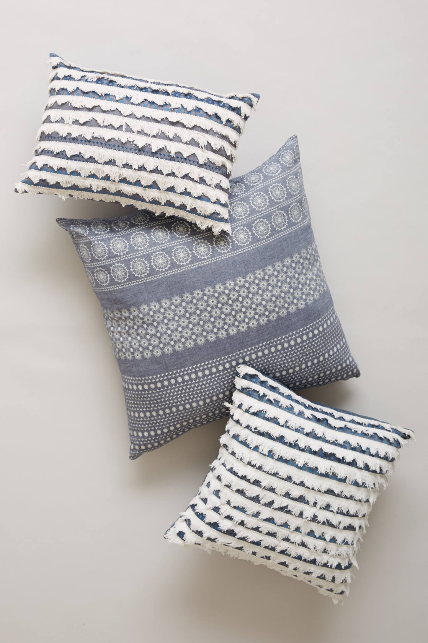 Tiered Fringe Pillow