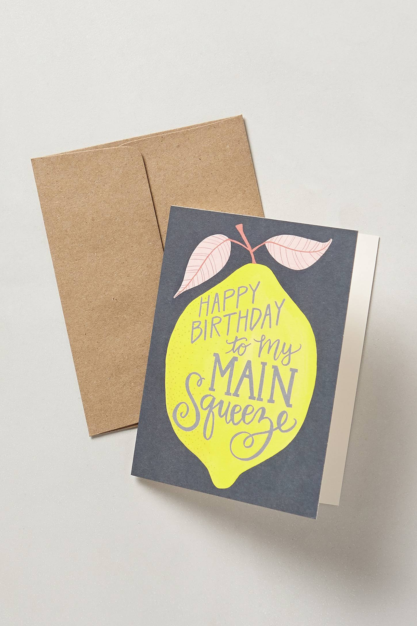 Slide View: 1: Main Squeeze Birthday Card