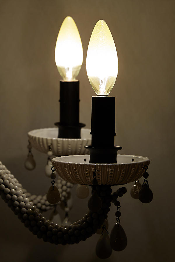 Slide View: 2: Etched Amber Chandelier Bulb