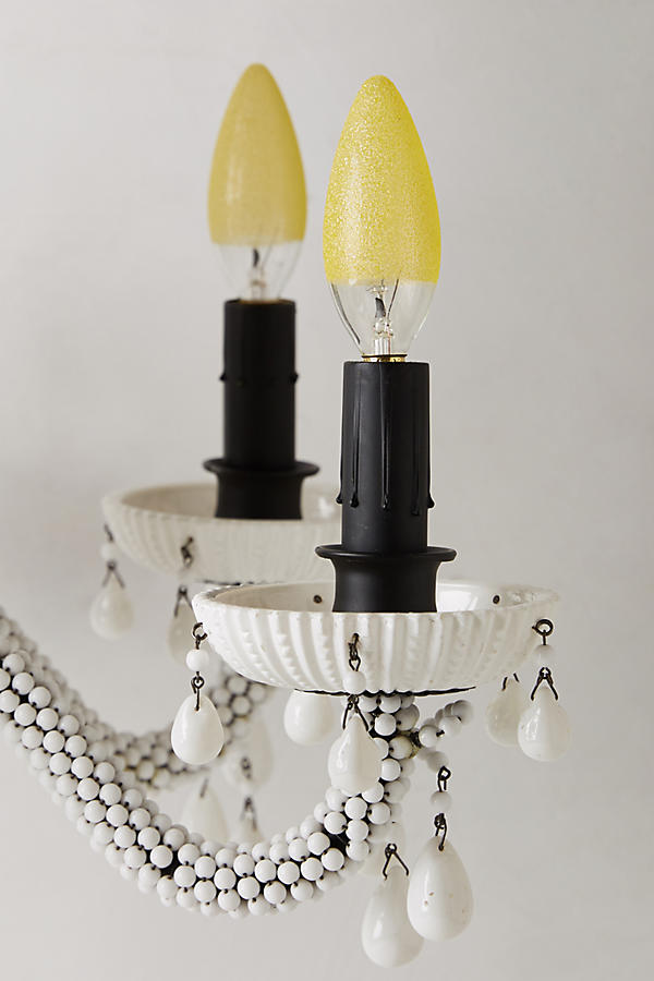 Slide View: 3: Etched Amber Chandelier Bulb
