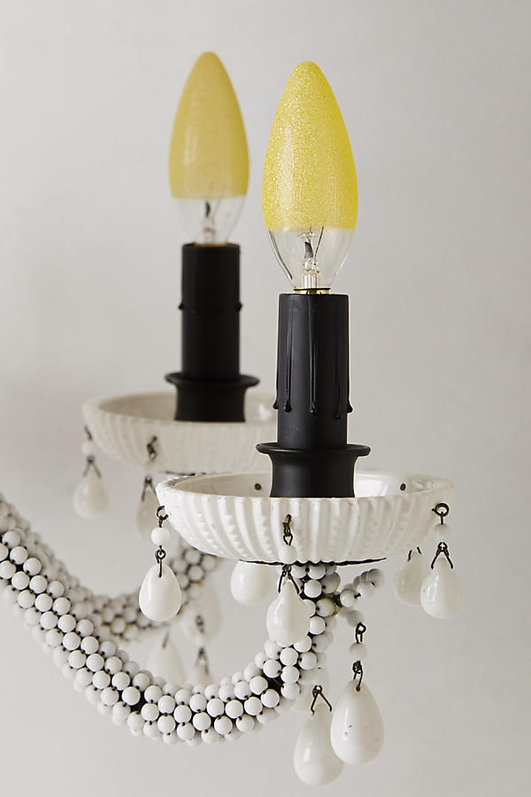 Slide View: 4: Etched Amber Chandelier Bulb