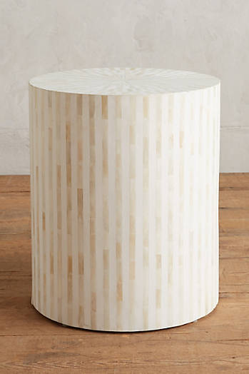 Slide View: 1: Rounded Inlay Side Table
