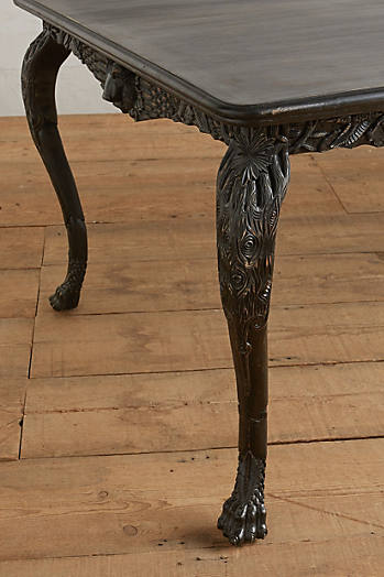 Slide View: 2: Handcarved Menagerie Dining Table