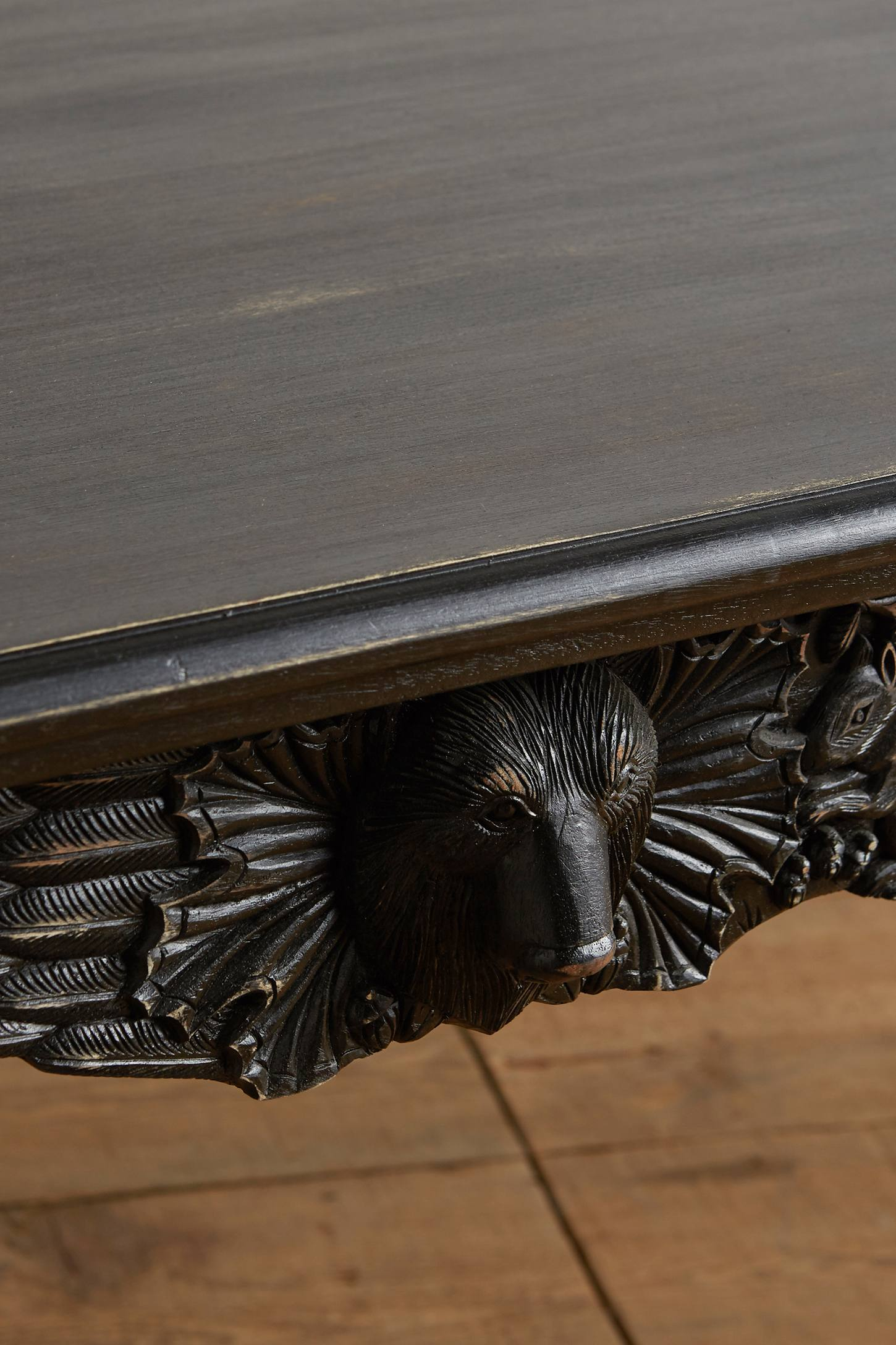Slide View: 3: Handcarved Menagerie Dining Table