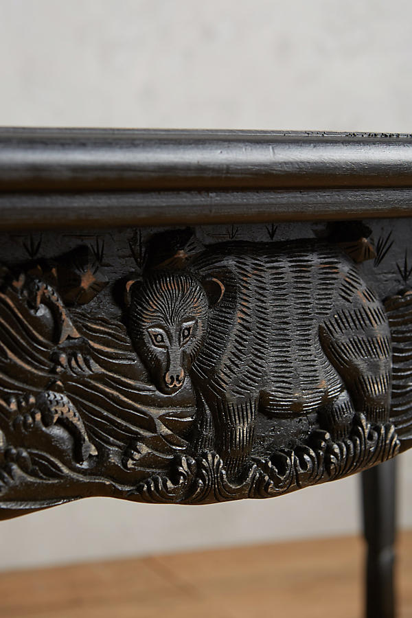 Slide View: 4: Handcarved Menagerie Dining Table