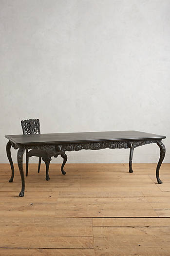 Slide View: 1: Handcarved Menagerie Dining Table