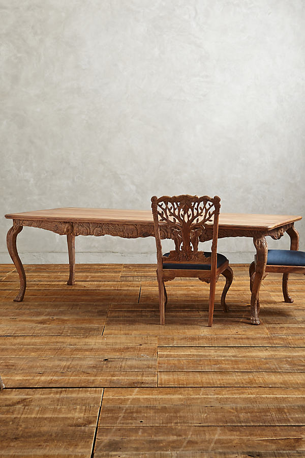 Handcarved Menagerie Dining Table - Neutral