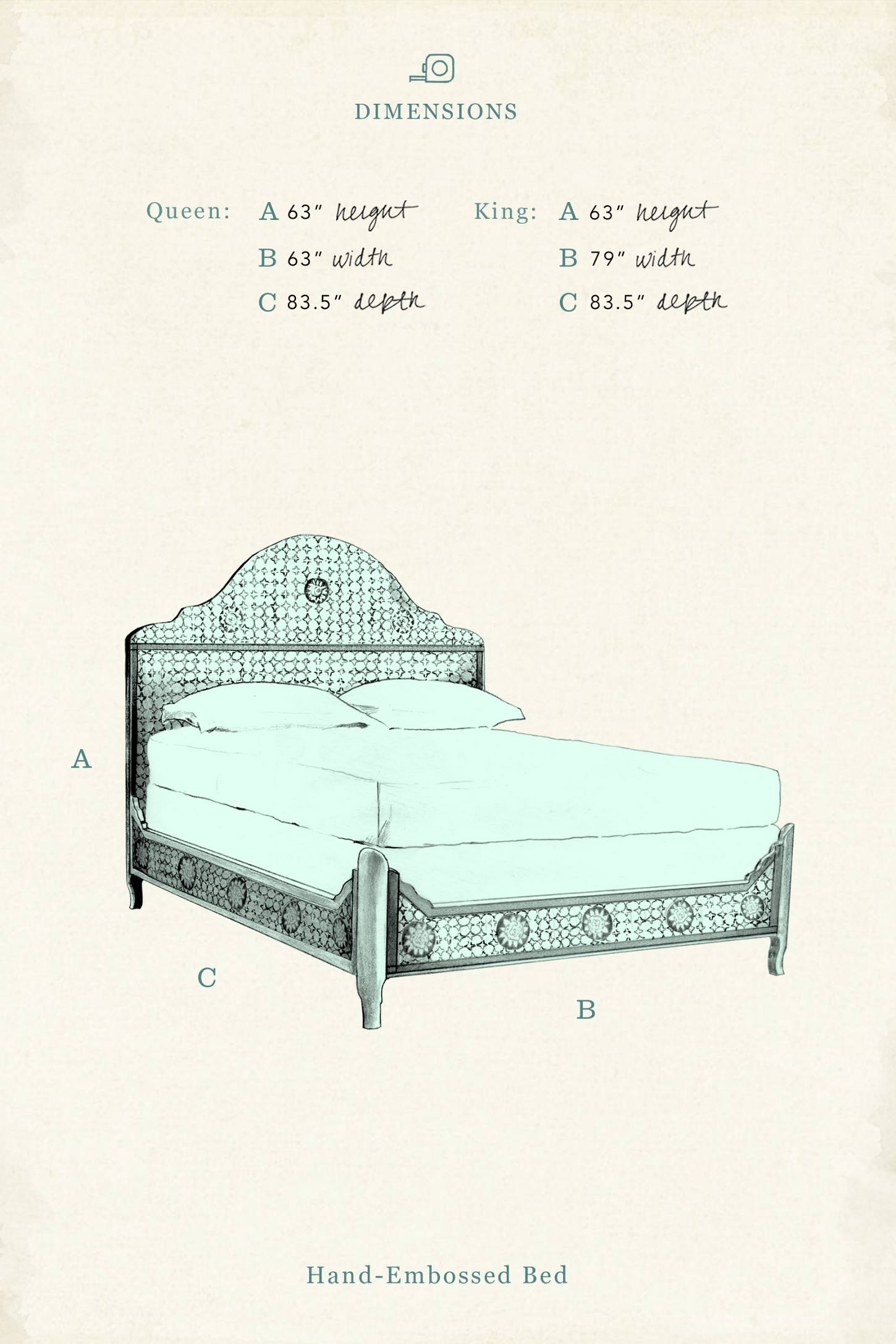 Slide View: 8: Hand-Embossed Bed