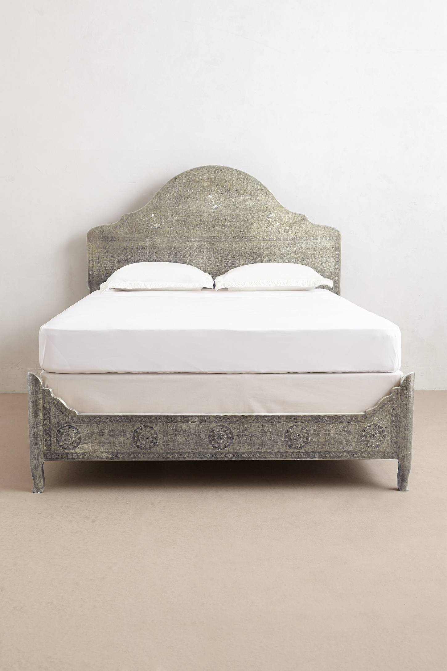 Slide View: 3: Hand-Embossed Bed
