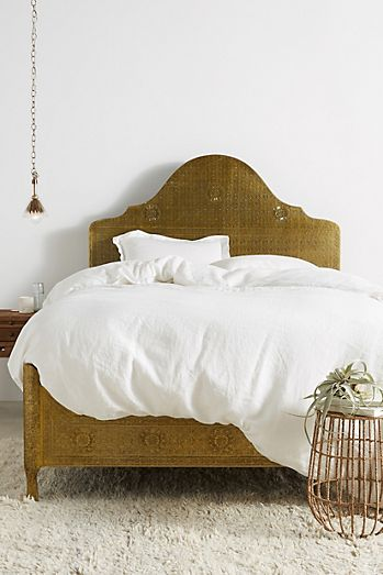 bohemian bed frames unique headboards anthropologie. Black Bedroom Furniture Sets. Home Design Ideas