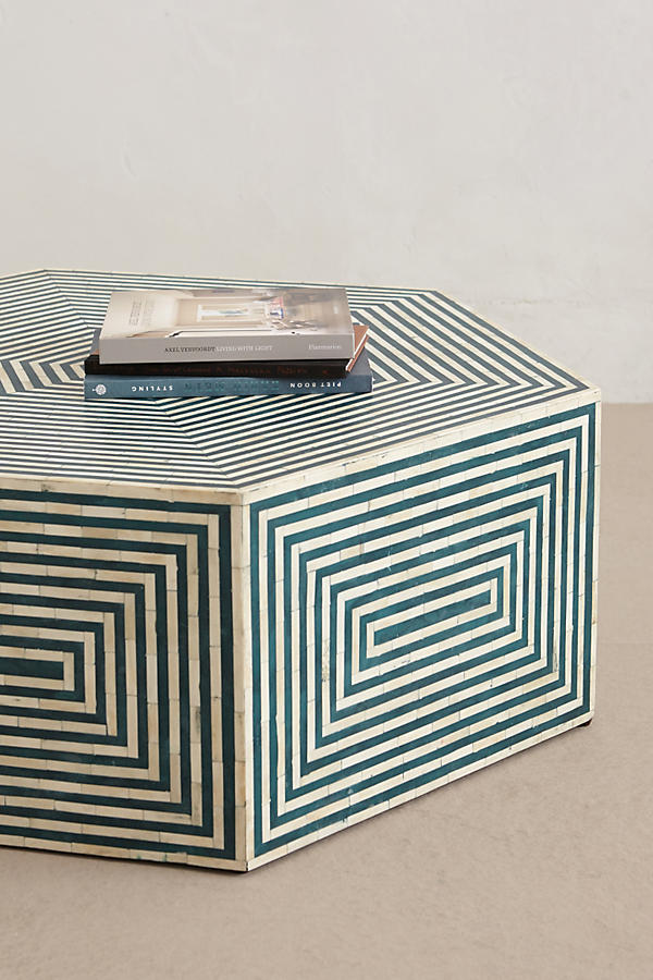 Slide View: 2: Hexa Inlay Coffee Table