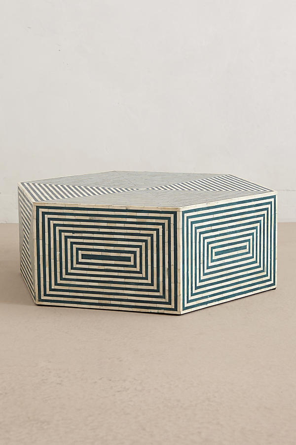 Slide View: 1: Hexa Inlay Coffee Table