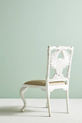 Slide View: 4: Handcarved Menagerie Owl Dining Chair