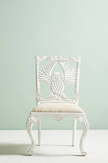 Slide View: 1: Handcarved Menagerie Owl Dining Chair