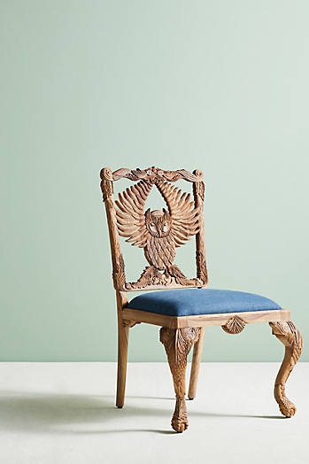 Slide View: 2: Handcarved Menagerie Armchair