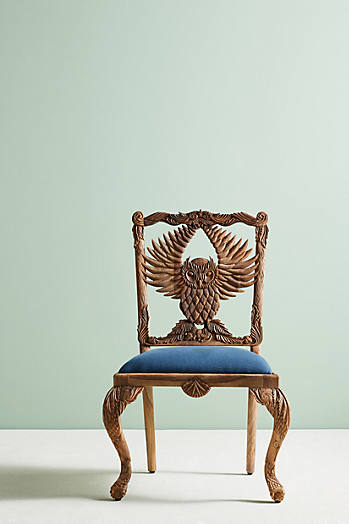 Slide View: 1: Handcarved Menagerie Armchair