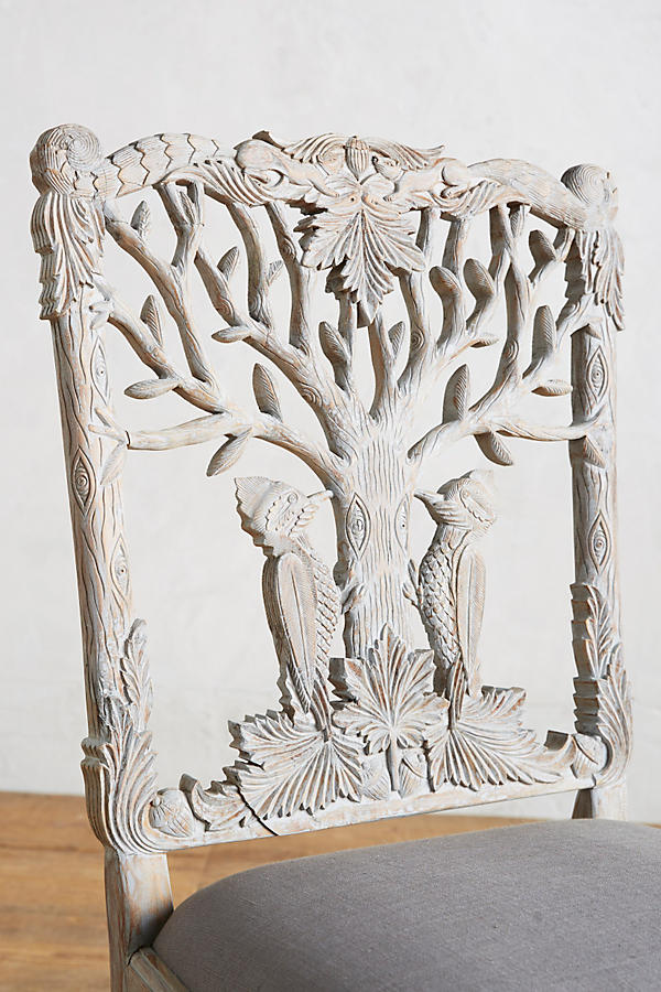Slide View: 3: Handcarved Menagerie Woodpecker Dining Chair