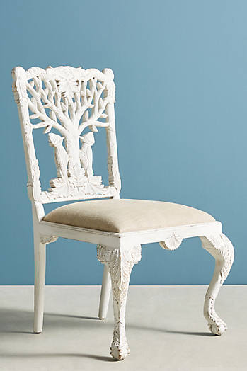 Slide View: 2: Handcarved Menagerie Woodpecker Dining Chair
