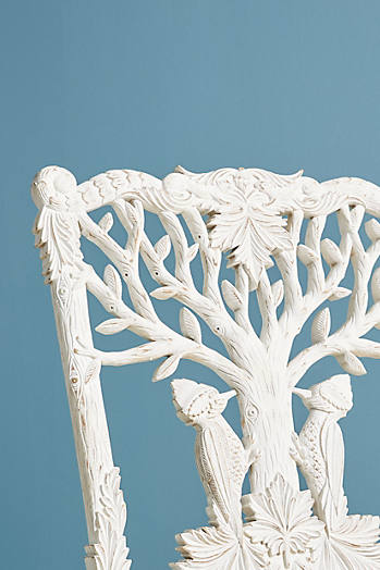 Slide View: 6: Handcarved Menagerie Woodpecker Dining Chair