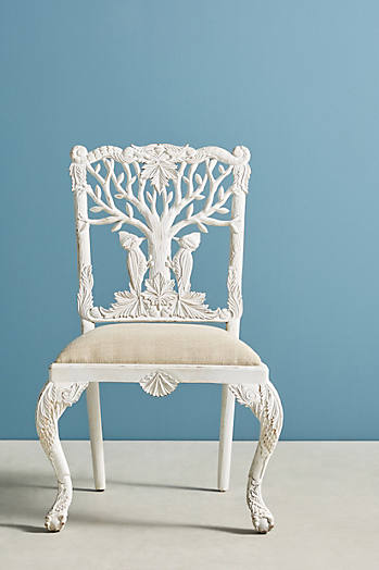 Slide View: 1: Handcarved Menagerie Woodpecker Dining Chair