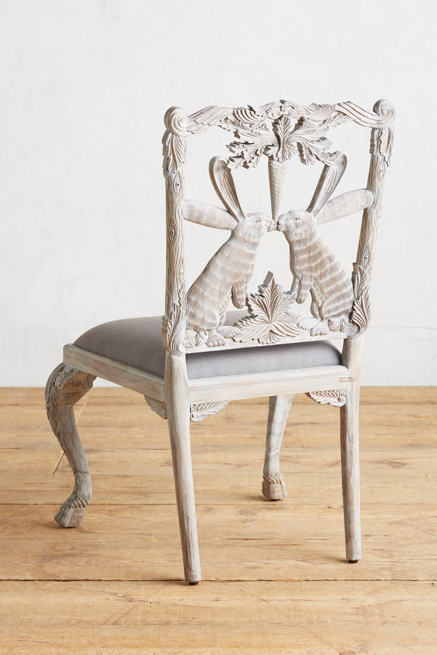 Slide View: 2: Handcarved Menagerie Rabbit Dining Chair