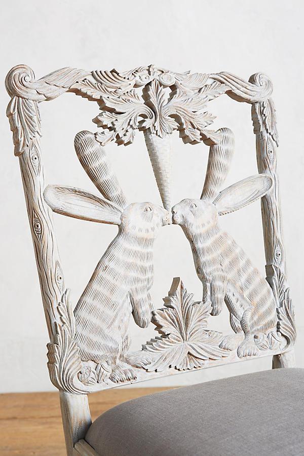 Slide View: 3: Handcarved Menagerie Rabbit Dining Chair