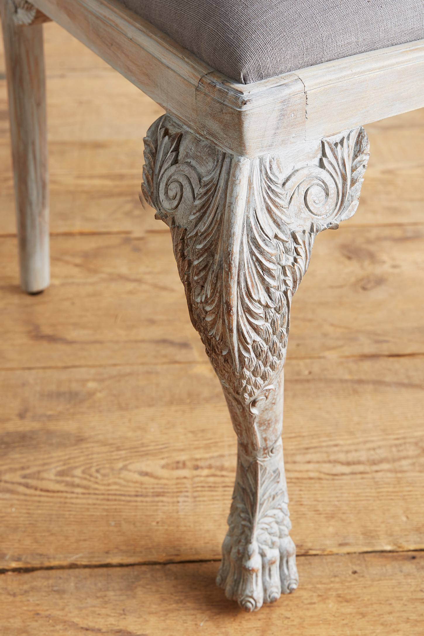 Slide View: 4: Handcarved Menagerie Rabbit Dining Chair