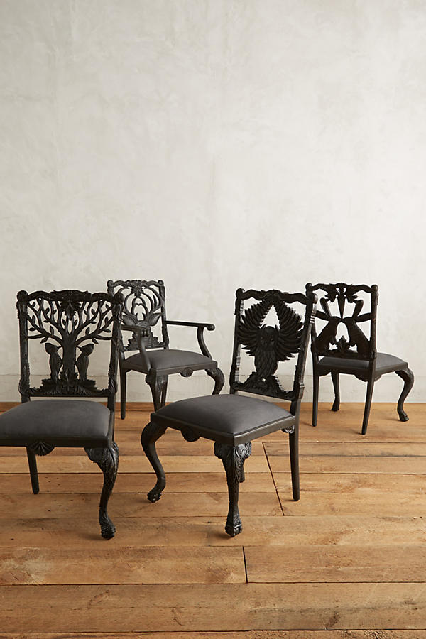Slide View: 5: Handcarved Menagerie Deer Armchair