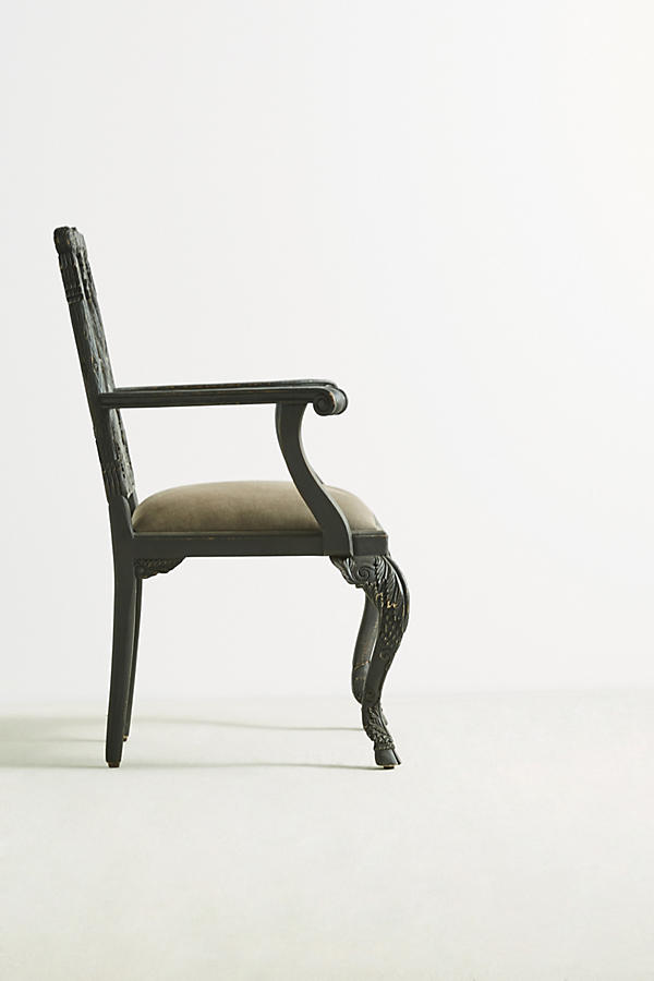 Slide View: 3: Handcarved Menagerie Deer Armchair