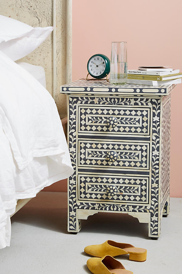 Slide View: 1: Bone Inlay Nightstand