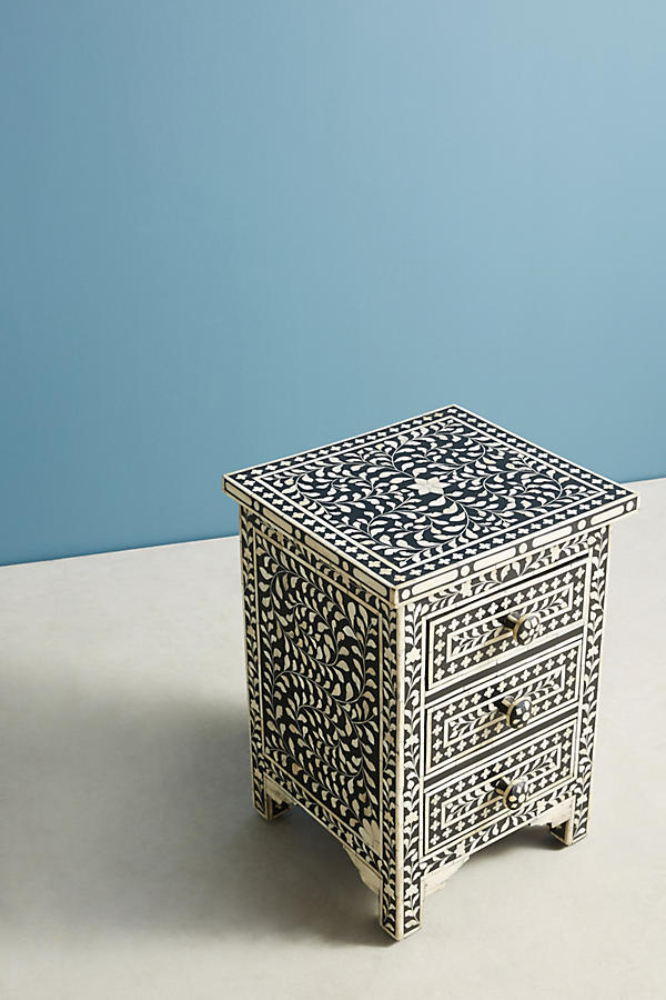 Slide View: 2: Bone Inlay Nightstand