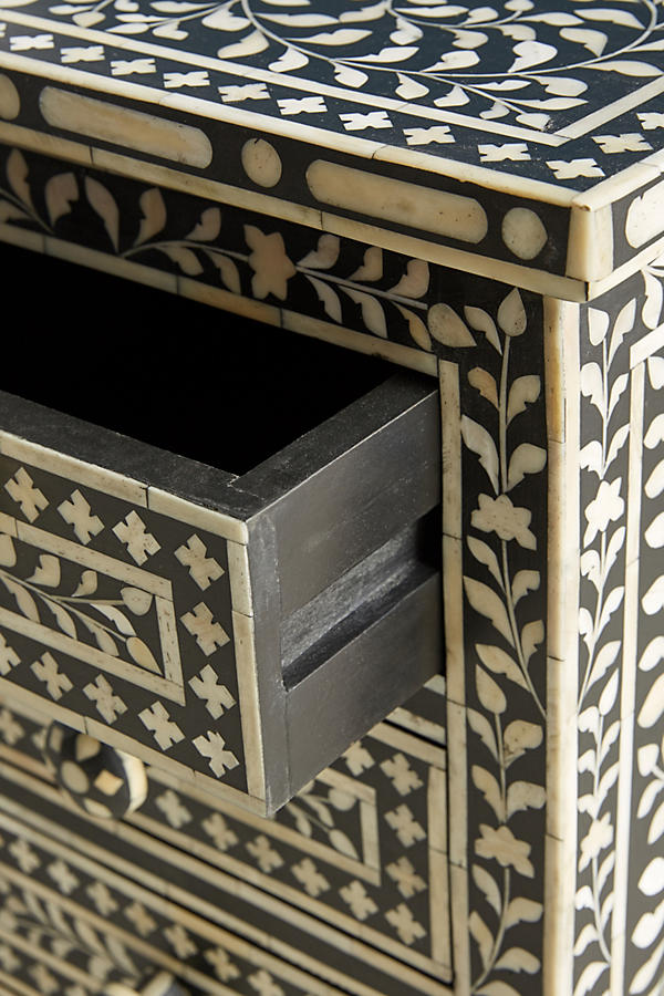 Slide View: 3: Bone Inlay Nightstand