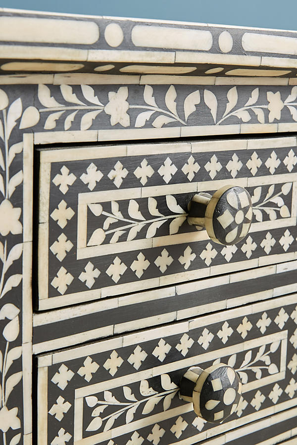 Slide View: 4: Bone Inlay Nightstand