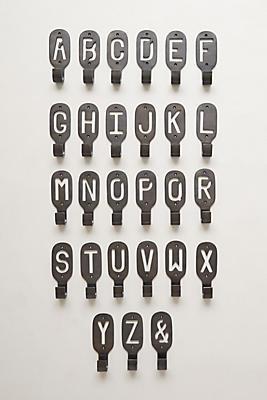 Slide View: 1: Cast Iron Monogram Hook